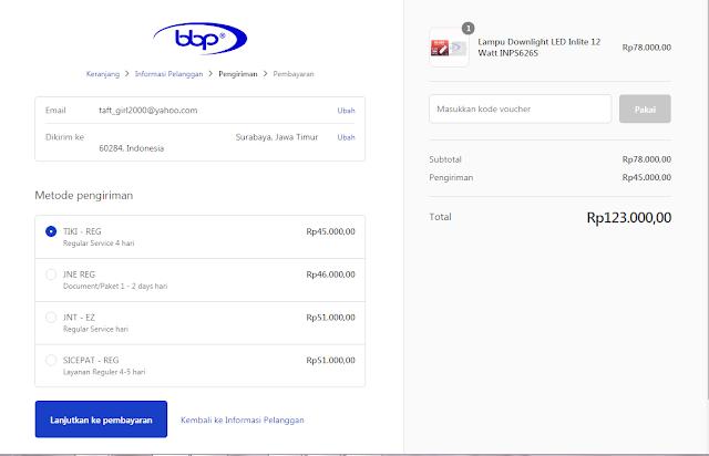 Cara memesan barang di BBP Indonesia
