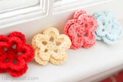 five petal crochet flower
