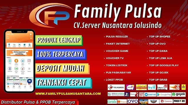 Family Pulsa Distributor Pulsa Termurah dan Terlengkap