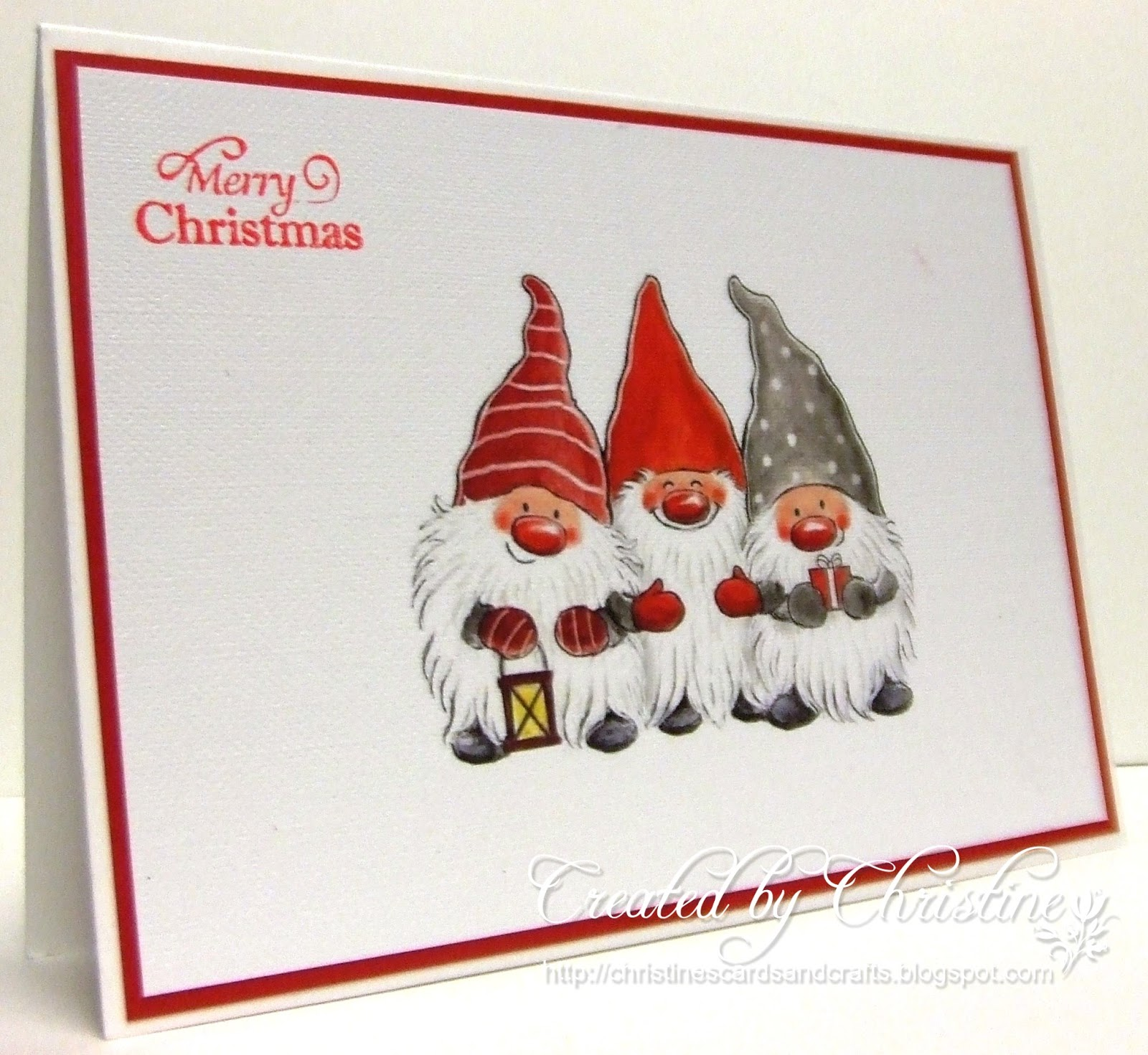 Christine\'s Cards and Crafts: Christmas Card Club Challenge 1