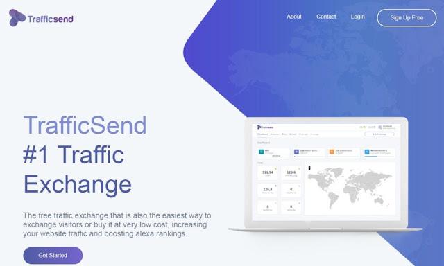 شرح موقع  Trafficsend  لتبادل الزيارات والمشاهدات 2019