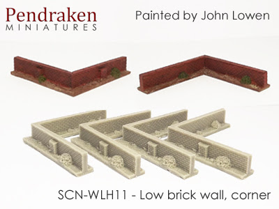 SCN-WLH11   Low brick walls, corner (4 pieces)