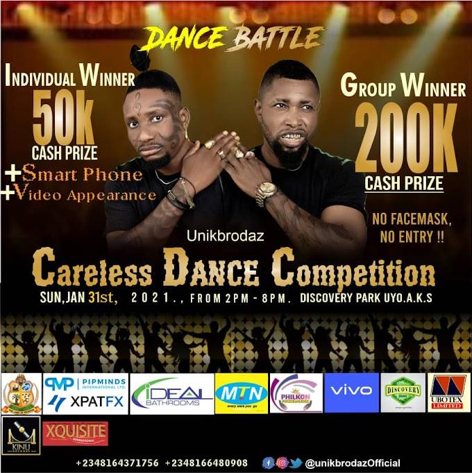 GX GOSSIP: Win ₦50K - ₦200K In Unik Brodaz Careless Dance Competition