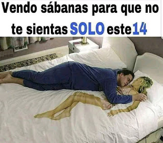 Meme San Valentín  sábanas para no sentirse solo