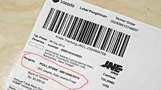 Cara mudah menyembunyikan alamat toko di resi label pengiriman lazada