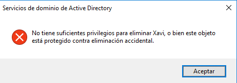 Active Directory: Delegar restablecer contraseña