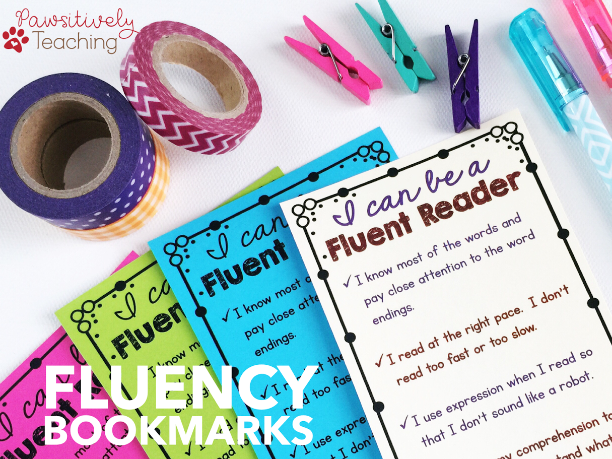 Grab these fluency bookmarks for FREE! What is reading fluency? Why do I need it in my primary classroom? How can I help develop fluency?