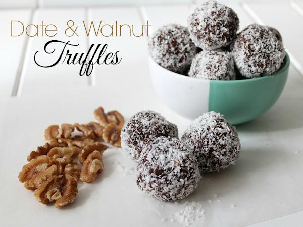 Date and Walnut Truffles
