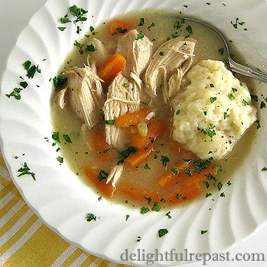 Chicken and Dumplings - A Comfort Food Classic / www.delightfulrepast.com