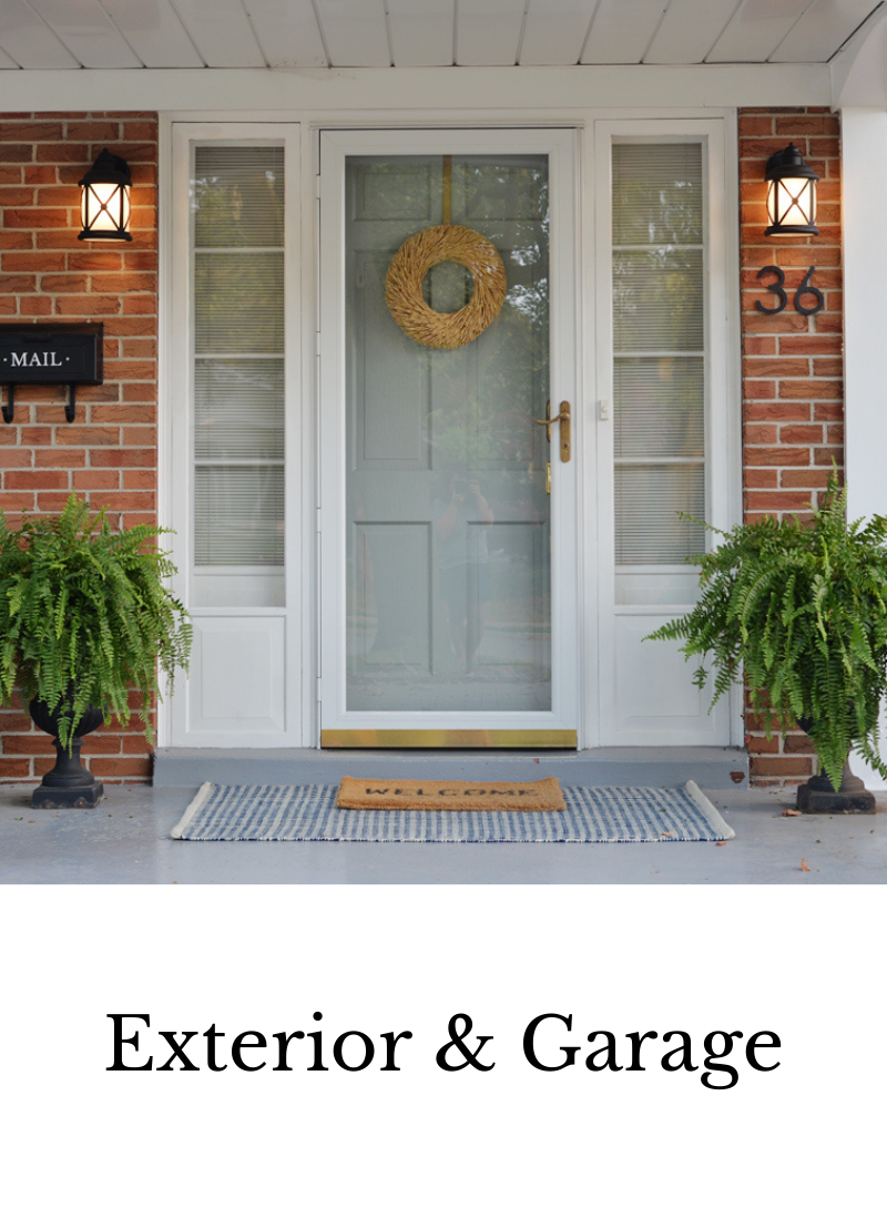 exterior and garage decor project