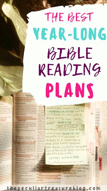 Year-long Bible study plans