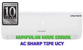 kumpulan kode error ac sharp terbaru