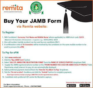 Buy 2019 Jamb Form through Remita – Step-by-Step Guide