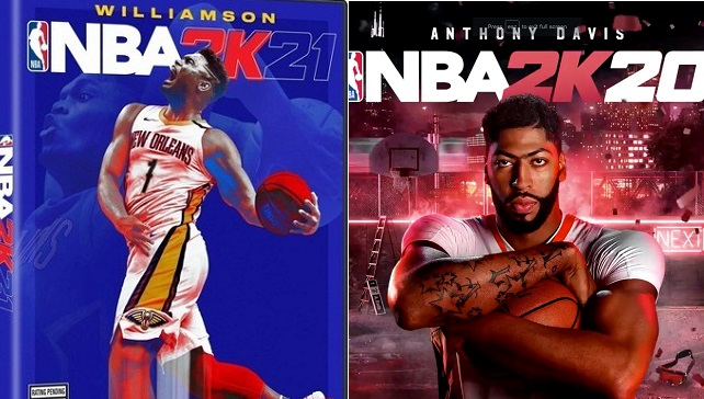 NBA 2K21 vs NBA 2K20 Cover Athlete