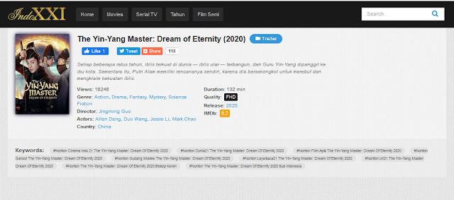 Nonton Film The Yin-Yang Master: Dream of Eternity Sub indo Streaming Movie