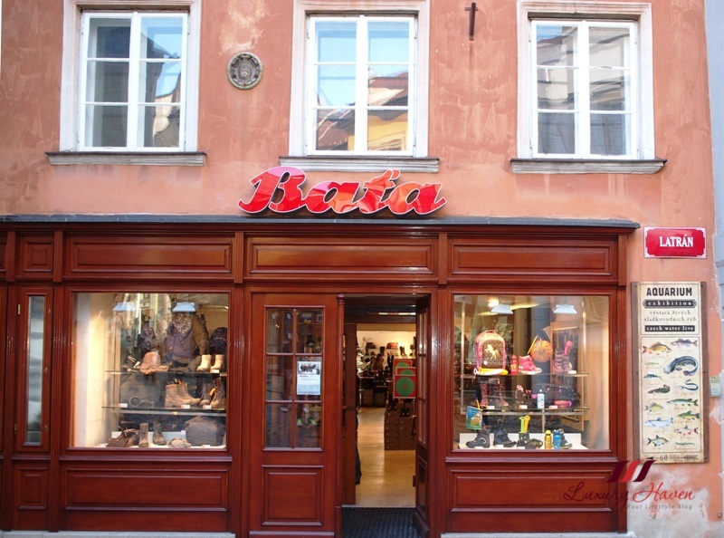 czech republic cesky krumlov bata shoes