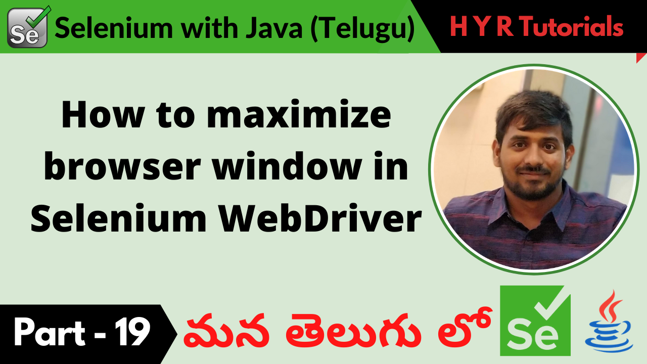 How to maximize browser window in Selenium WebDriver