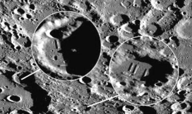 Superficie de la Luna junto al crater Parcelsus C