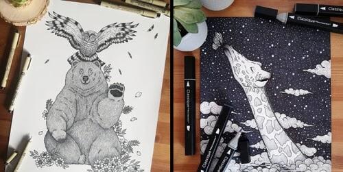 00-Animal-Drawings-Beatrice-Moretti-www-designstack-co