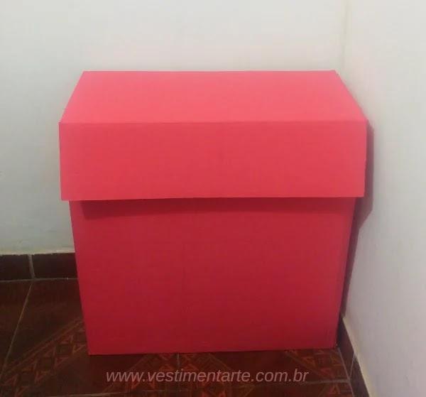 decoraçao com caixa de papelao