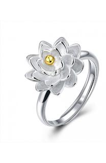 Inel din argint 925, ajustabil, model floare
