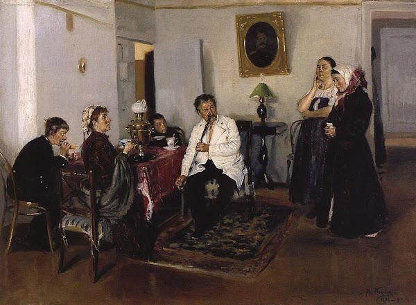 Маковский Владимир Егорович - Наем прислуги. 1891