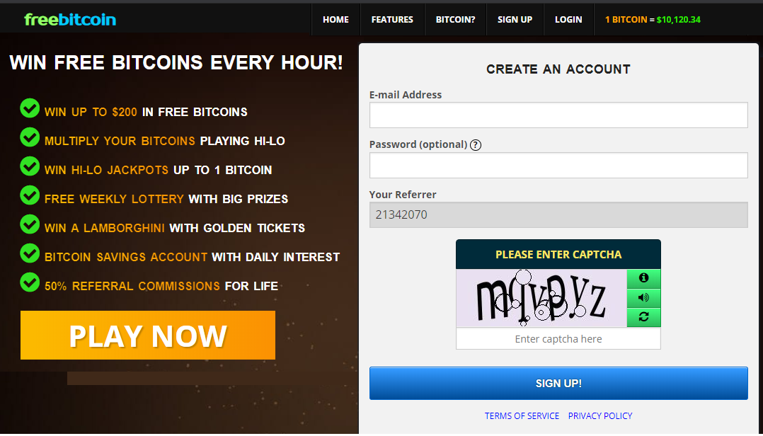 win free bitcoins every hour and every day