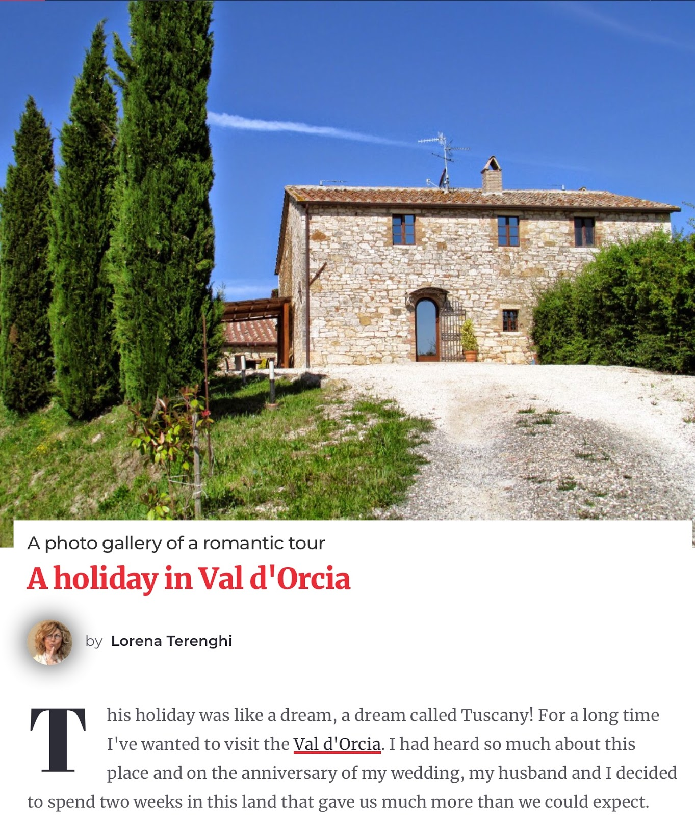 holiday in val d'orcia