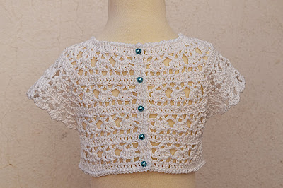4 - Crochet Imagen Canesú blanco a crochet y ganchillo por Majovel Crochet