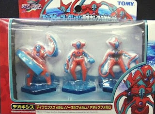 Pokemon figure Tomy Monster Collection 2004 Movie Deoxys 3pcs Set