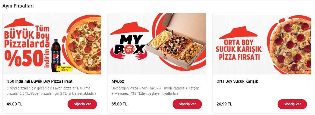 pizza hut büyük boy pizza fırsatları pizza kampanyaları
