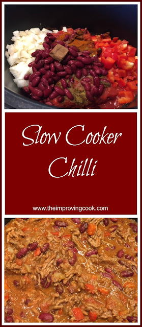 The Improving Cook- Slow Cooker Chilli pinnable image