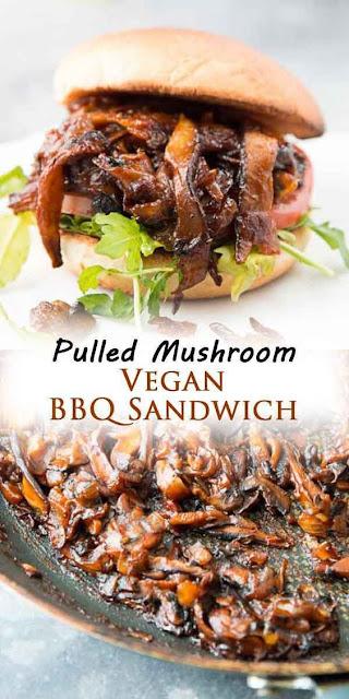 PULLED SHIITAKE MUSHROOM BBQ SANDWICH