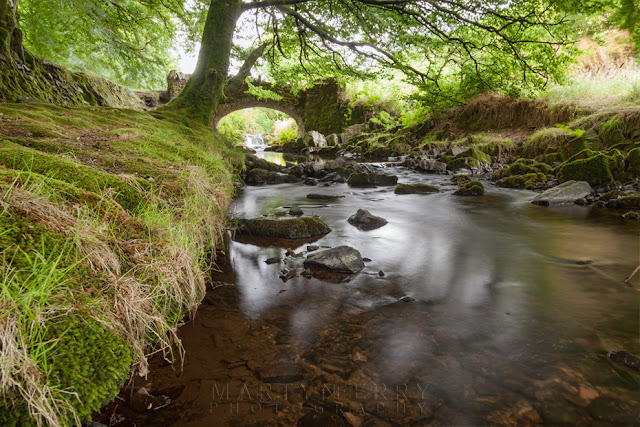 Robbers bridge in the Doone Valley in Exmoor Somerset by Martyn Ferry Photography