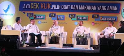 """talkshow BPOM dengan tema """"Ayo Cek KLIK, Pilih Obat dan Makanan yang Aman"""""""
