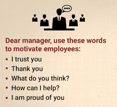 Dear Manager, use these words to motivate employees: