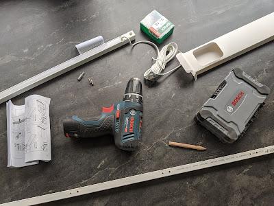 Lieferumfang IKEA Skydrag mit Werkzeug