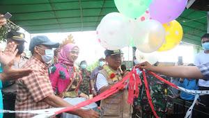 Bupati Lamtim Resmikan Pasar Kreatif Rumah Fosil Tanjung Harapan