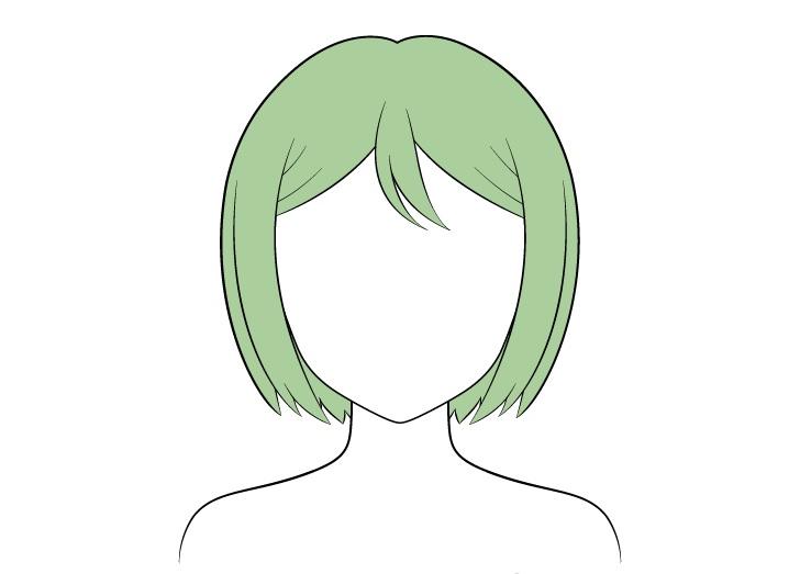 Pewarnaan rambut anime combed