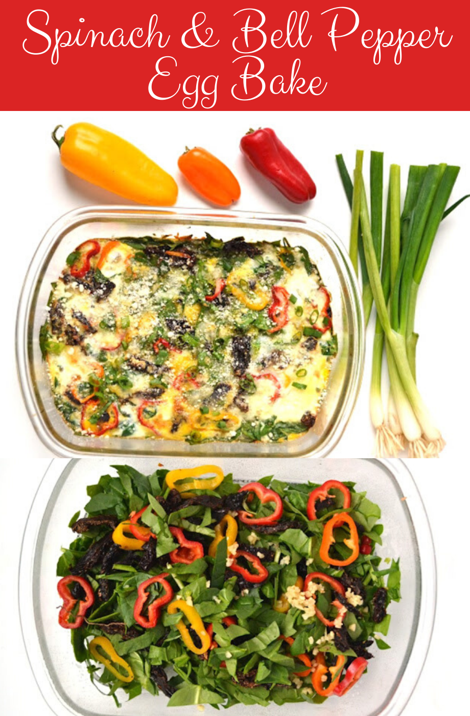Spinach and Bell Pepper Egg Bake