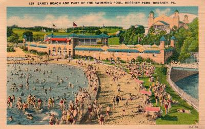 Postcard of Hershey Park 1948 https://jollettetc.blogspot.com