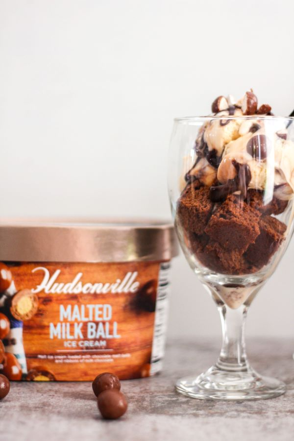 Malted Milk Ball Brownie Sundaes | The Chef Next Door