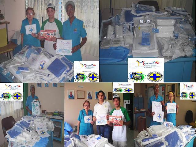 """Acción Voluntaria de Hospitales de Hpao de San Fernando recibió donativo quirúrgico de Move Org tramitado por Proyecto """"Yo Amo Apure""""."""