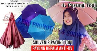 Payung Topi  merupakan salah satu jenis payung yang bisa kamu jadikan souvenir