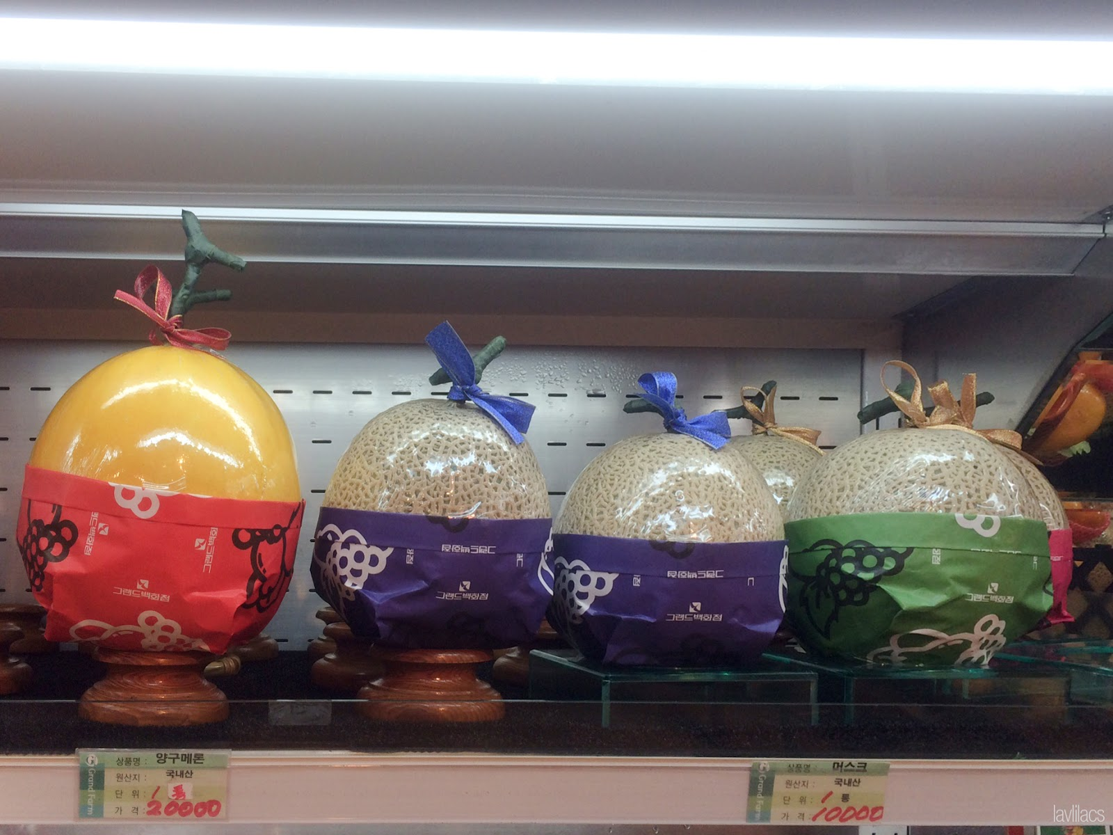 Seoul, Korea - Summer Study Abroad 2014 - Packaged melons in Korean supermarket