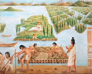 agricultura de la cultura Azteca