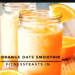 Orange oats smoothie