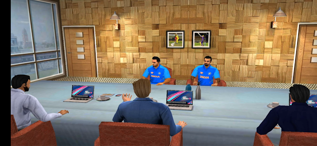 Real Cricket 19 Team Management Meeting