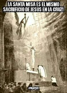 estampa de la santa misa