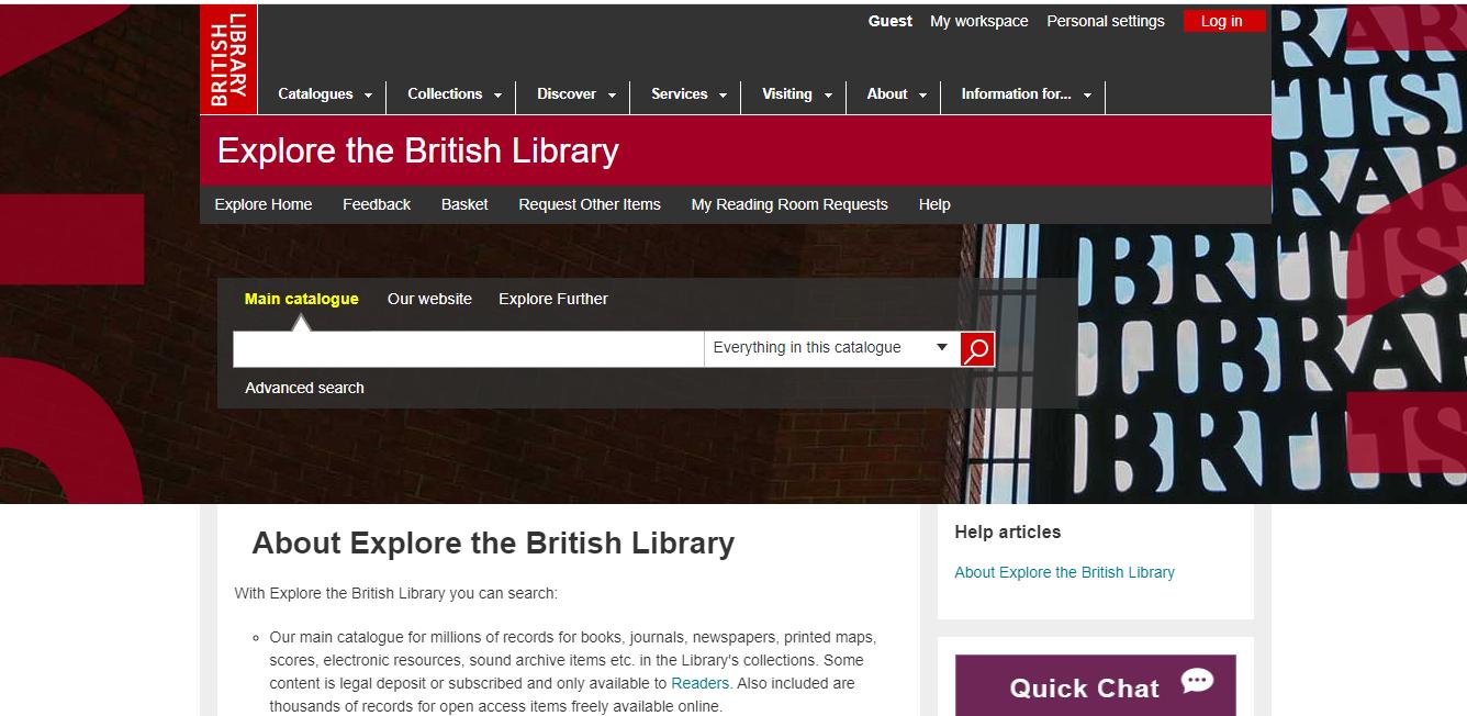British Library Catalogue